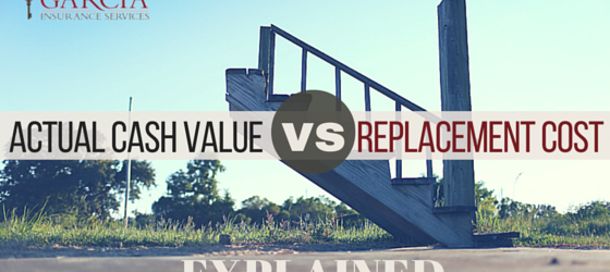 actual value and replacement cost